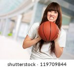 portrait of a young female with ... | Shutterstock . vector #119709844