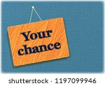 your chance sticker record... | Shutterstock . vector #1197099946