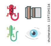 eye icon set. vector set about... | Shutterstock .eps vector #1197104116