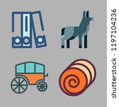 horse icon set. vector set... | Shutterstock .eps vector #1197104236