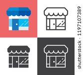 retail strore icons | Shutterstock .eps vector #1197107389