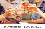 a group of alcohol glass in... | Shutterstock . vector #1197107629