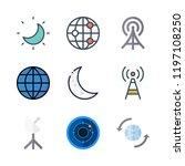 satellite icon set. vector set... | Shutterstock .eps vector #1197108250