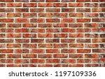 brick wall background. texture...   Shutterstock . vector #1197109336