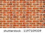 brick wall background. texture...   Shutterstock . vector #1197109339
