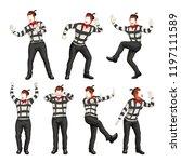 male mime set   Shutterstock .eps vector #1197111589