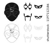 vector design of hero and mask...   Shutterstock .eps vector #1197112186