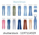 women's pants collection ... | Shutterstock .eps vector #1197114529