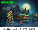 happy halloween background  ... | Shutterstock .eps vector #1197117400