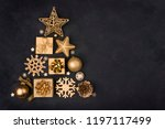 abstract christmas tree made of ... | Shutterstock . vector #1197117499