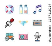 rock icon set. vector set about ... | Shutterstock .eps vector #1197118219