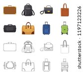 vector design of suitcase and... | Shutterstock .eps vector #1197123226