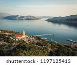 castle of baska overlooking the ... | Shutterstock . vector #1197125413