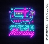cyber monday  discount sale... | Shutterstock . vector #1197126733