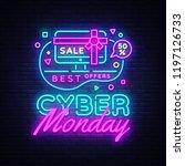 cyber monday  discount sale... | Shutterstock . vector #1197126733