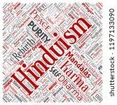 vector conceptual hinduism ... | Shutterstock .eps vector #1197133090