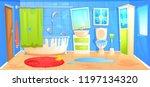 dirty bathroom design interior... | Shutterstock .eps vector #1197134320