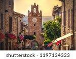 little village scene in italy   ...   Shutterstock . vector #1197134323