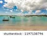 boats at the beautiful coast of ... | Shutterstock . vector #1197138796