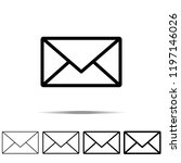 mail icon in different shapes ... | Shutterstock .eps vector #1197146026