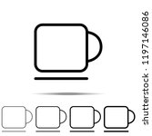 a cup icon in different shapes  ...