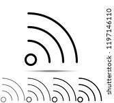 wi fi icon in different shapes  ...