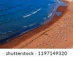 small mediterranean beach full... | Shutterstock . vector #1197149320