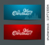 merry christmas banners set... | Shutterstock .eps vector #119715004
