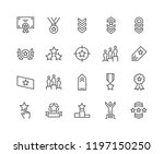 simple set of ranking related... | Shutterstock .eps vector #1197150250