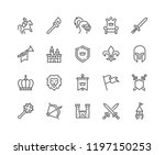 simple set of medieval related... | Shutterstock .eps vector #1197150253
