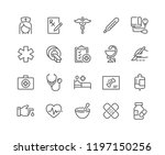 simple set of medical related... | Shutterstock .eps vector #1197150256