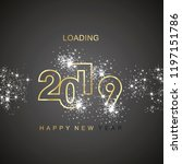 happy new year 2019 loading... | Shutterstock .eps vector #1197151786