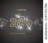 happy new year 2019 loading... | Shutterstock .eps vector #1197151786