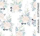 seamless pattern with white... | Shutterstock .eps vector #1197154660