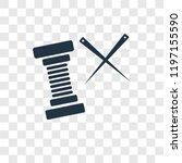 thread vector icon isolated on... | Shutterstock .eps vector #1197155590