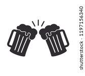 beer icon in trendy flat design    Shutterstock .eps vector #1197156340