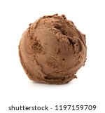 chocolate ice cream ball | Shutterstock . vector #1197159709