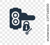 handle vector icon isolated on... | Shutterstock .eps vector #1197160030