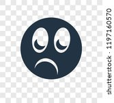 shocked vector icon isolated on ... | Shutterstock .eps vector #1197160570