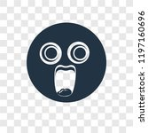 shocked vector icon isolated on ... | Shutterstock .eps vector #1197160696