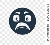shocked vector icon isolated on ... | Shutterstock .eps vector #1197160786