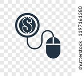 pay per click vector icon... | Shutterstock .eps vector #1197161380