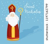 cute greeting card with saint... | Shutterstock .eps vector #1197162799