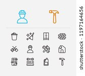 hygiene icons set. clean house...