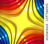3d colorful abstract background | Shutterstock . vector #1197166543