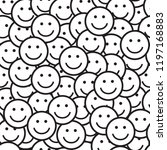 seamless pattern with smile...   Shutterstock .eps vector #1197168883