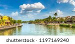 panorama of hoi an  vietnam in... | Shutterstock . vector #1197169240