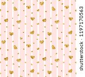 gold heart seamless pattern.... | Shutterstock .eps vector #1197170563