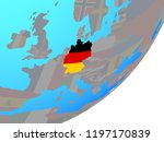 germany with embedded national... | Shutterstock . vector #1197170839