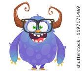 cool cartoon alien. vector... | Shutterstock .eps vector #1197171469
